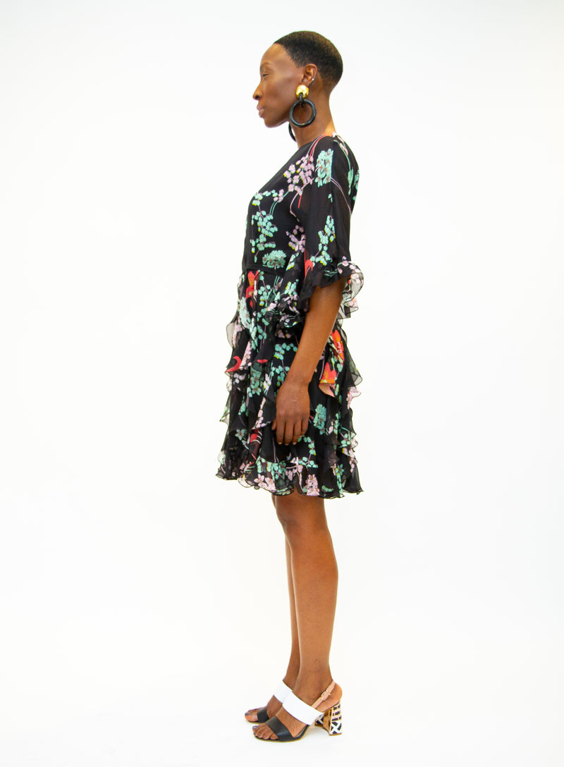 GIAMBA | Black Floral Dress