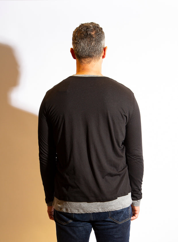 MAJESTIC FILATURES | Double Layer Long-Sleeve Henley