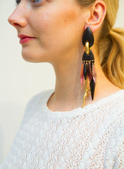 MONIES | Purple Ebony & Gold Drop Earrings