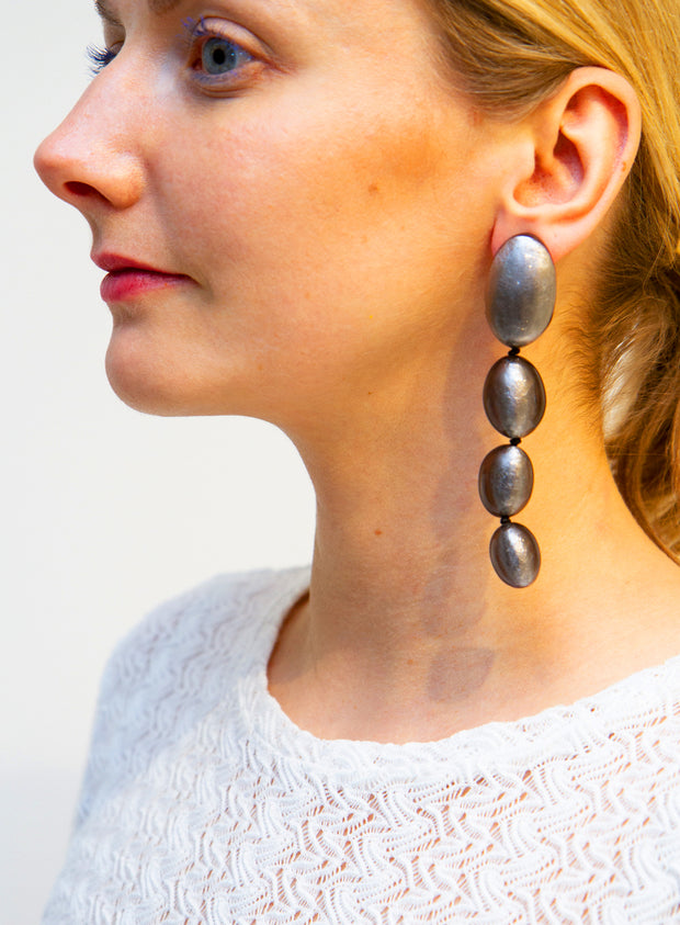 MONIES | Silver Drop Earrings