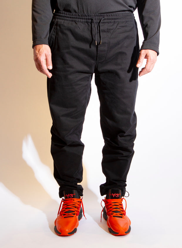 MAHARISHI | Apollonian Trackpants in Black with Chameleon Embroidery