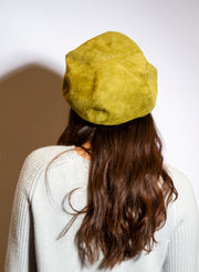 KOKIN | Suede Cap in Citron Green