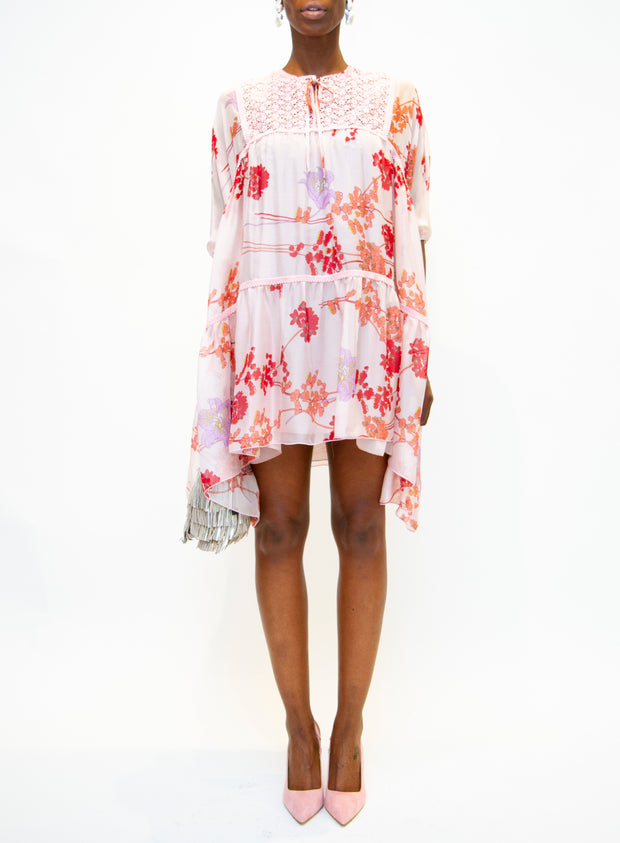 GIAMBA | Blush Floral Dress