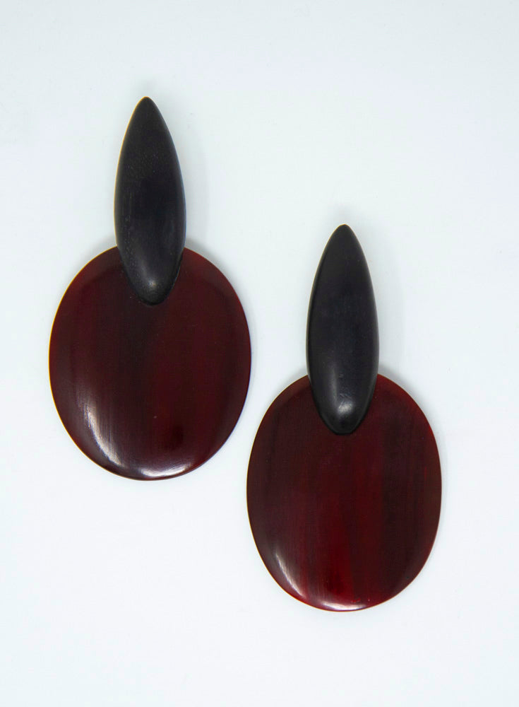 MONIES | Horn & Brown Tortoise Drop Earrings