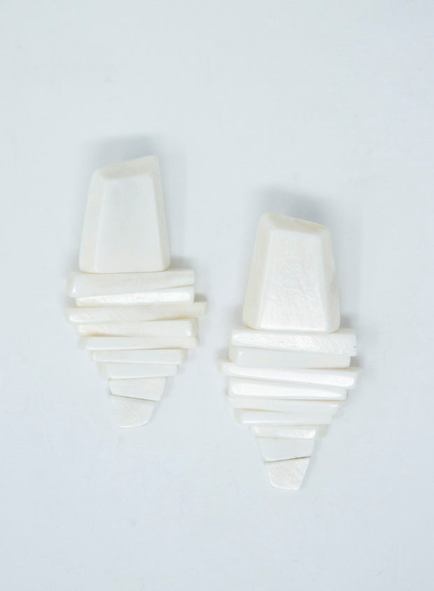 MONIES | Bone Drop Earrings