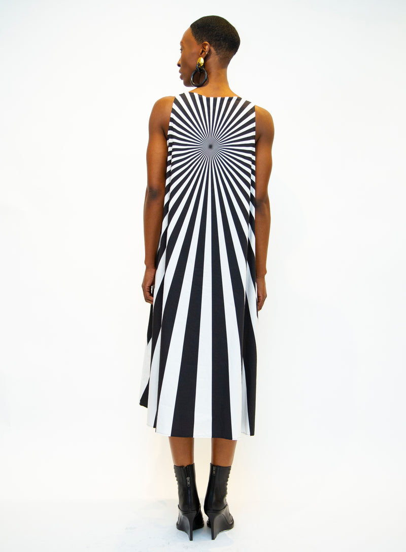 RUNDHOLZ | Optical Illusion Cotton Printed Dress