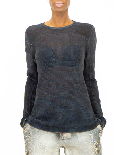 AVANT TOI | Round Neck Slim-Fit Sweater in Grey