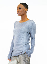 AVANT TOI | Round Neck Printed Sweater in Grey
