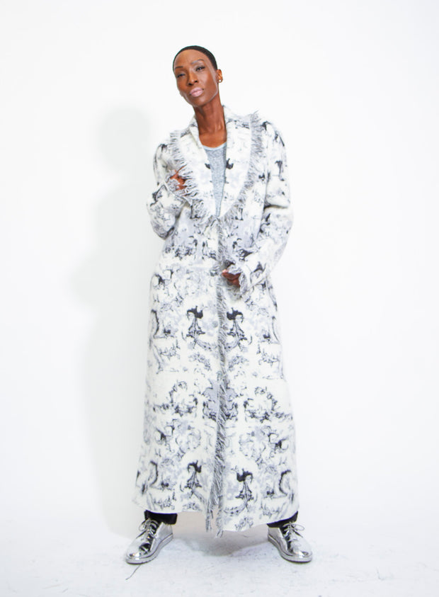 AVANT TOI | Virgin Wool and Alpaca Dyed Persian Stitch Long Coat