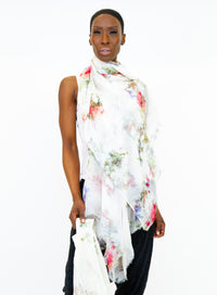AVANT TOI | Modal & Cashmere Flower Field Printed Scarf