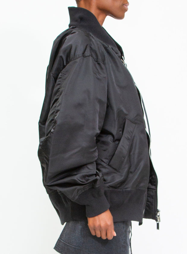 SACAI | Oversized Bomber Jacket in Black