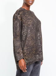 AVANT TOI | Cashmere & Silk Pullover Splatter Sweater With Lamination