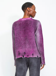 AVANT TOI | Cashmere Pullover With Destroyed Edges in Magenta