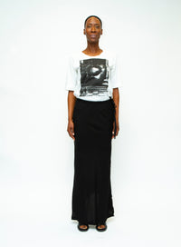 ANN DEMEULEMEESTER | Elbow Sleeve T-Shirt With Graphic