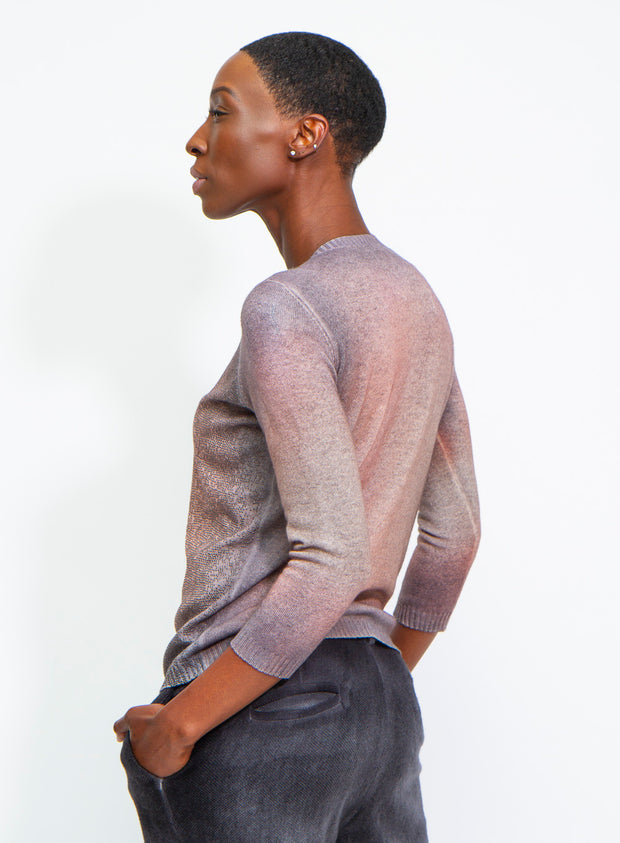 AVANT TOI | Cashmere Cardigan with Lunar Studs