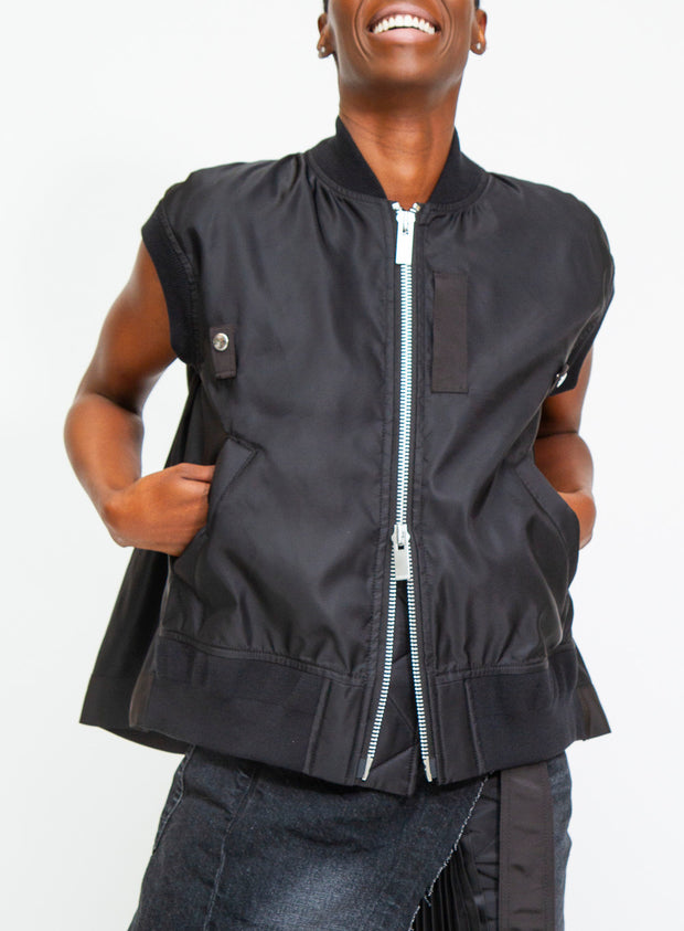 SACAI | MA-1 Vest in Black