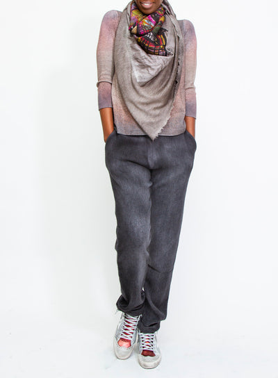 AVANT TOI | Faded Grey Cashmere/Alpaca Trousers