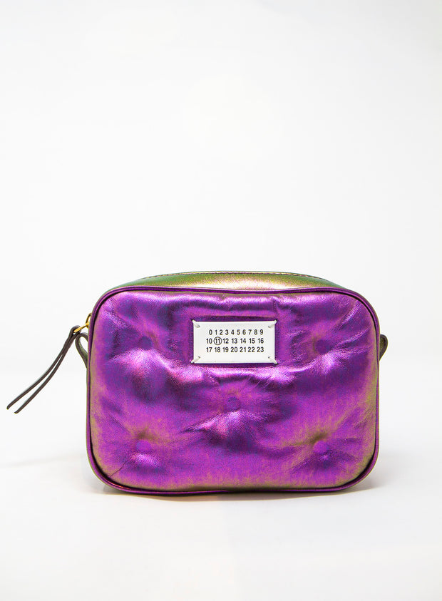 MAISON MARGIELA | Leather Pillow Cross-Body Bag in Iridescent Purple