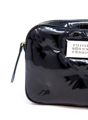 MAISON MARGIELA | Pillow Cross-Body Bag in Purple Patent Leather