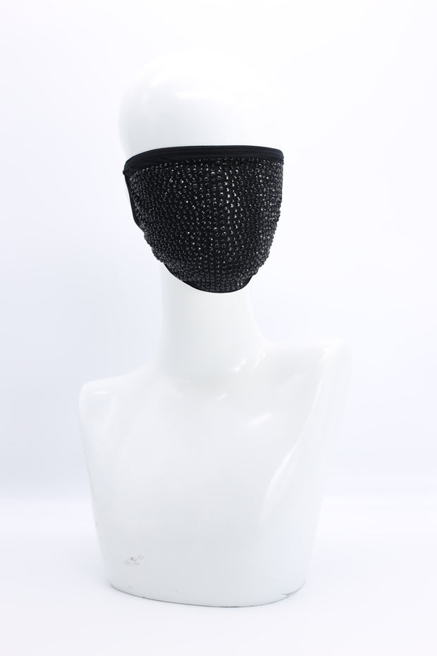 JIANHUI | Black on Black Crystal Mask