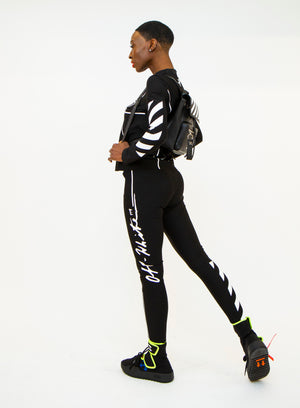 OFF-WHITE | Diagonal-Striped Graphic Long Sleeve Top