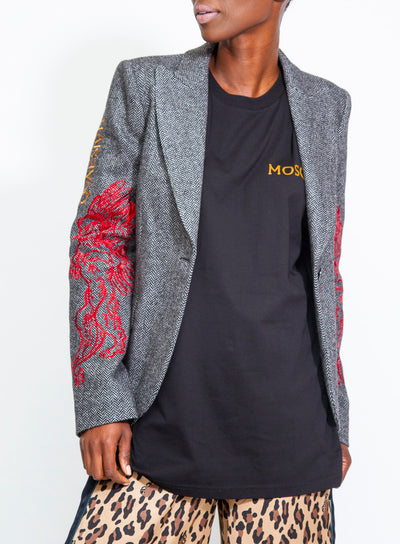 MOSCHINO | Roman Fantasy Print Embroidered Blazer