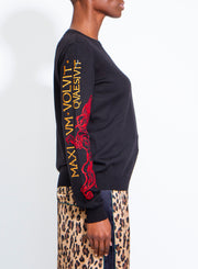 MOSCHINO | Roman Fantasy Print Embroidered Pullover Sweater
