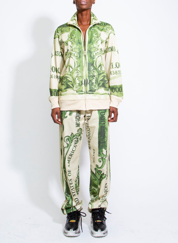 MOSCHINO | Unisex Fantasy Print Dollar Bill Track Pants
