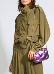 NORMA KAMALI | Turtle Cargo Jacket in Olive Green