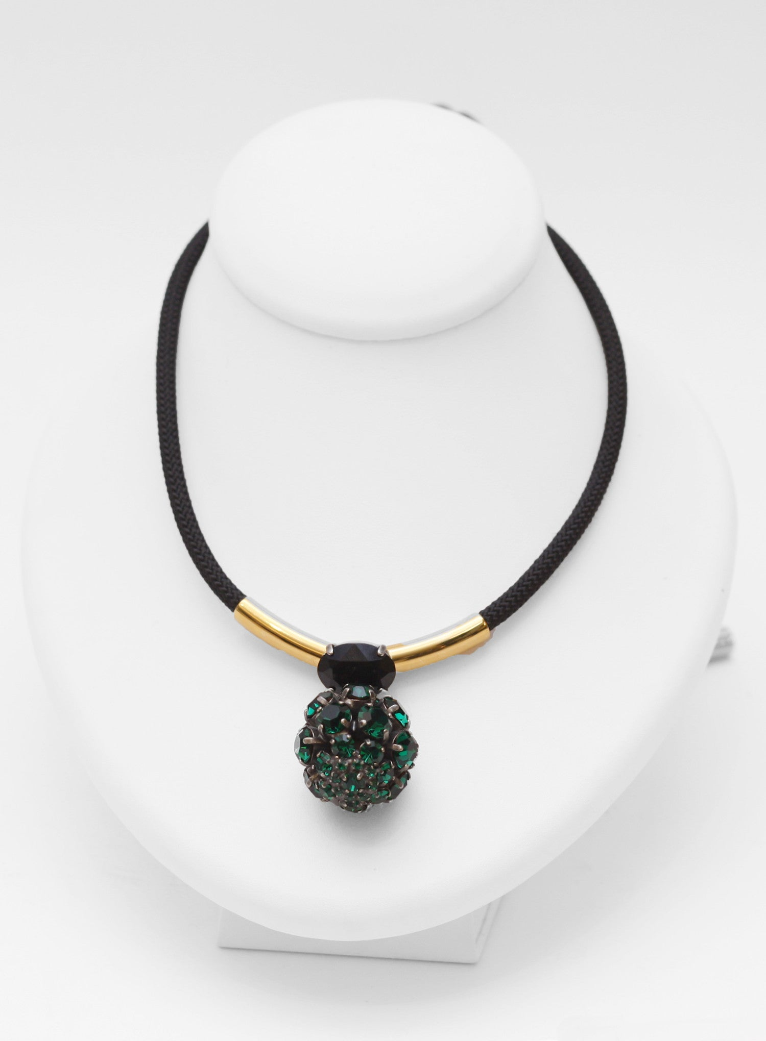 MARNI | Strass Adjustable Pendant Necklace (Green)