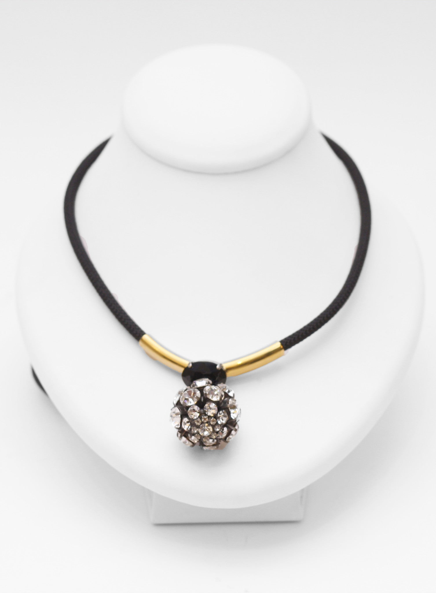 MARNI | Strass Adjustable Pendant Necklace (Crystal)