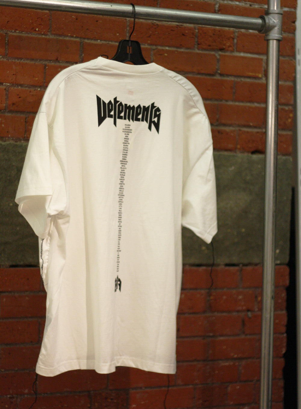 Vetements x Champion | White Oversized Staff T-shirt