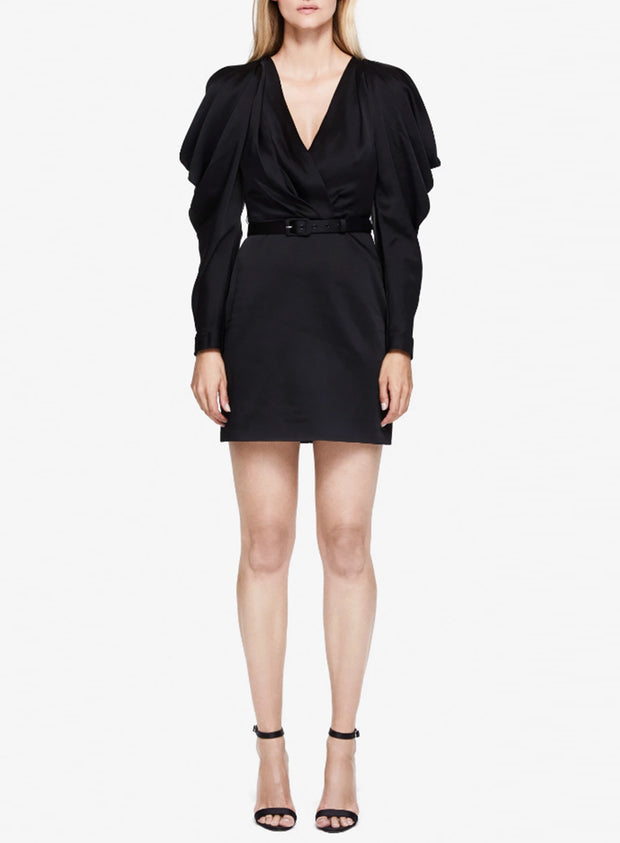 JONATHAN SIMKHAI | Pleated Sleeve Mini Dress