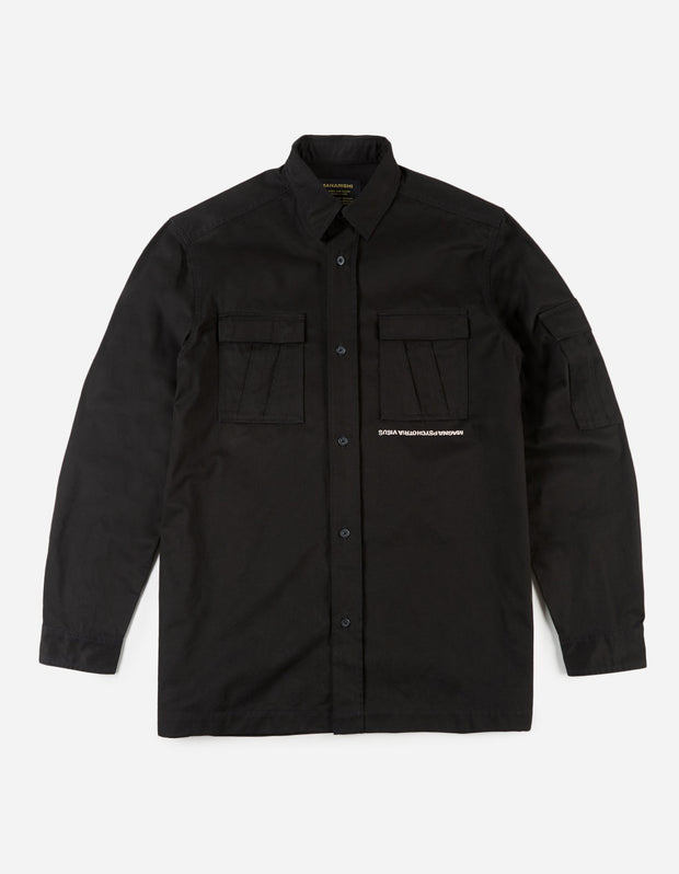 MAHARISHI | 'Life & Death' Shirt with Embroidery in Black