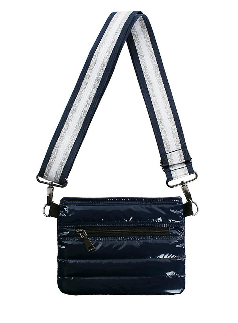 THINK ROYLN | Bum Bag/Cross Body Bag in Navy Patent