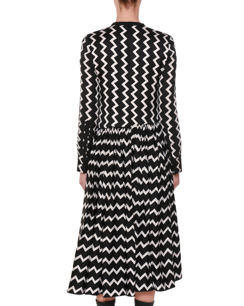 STELLA MCCARTNEY | Asymmetric Zig-Zag Silk Dress