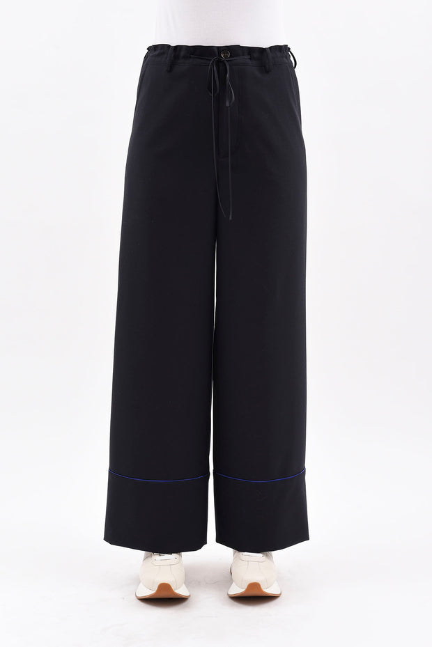 MARNI | Wide Cuff Pant in Deep Blue