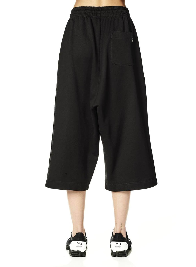 Y-3 | Cropped Wide Sweatpant in Black
