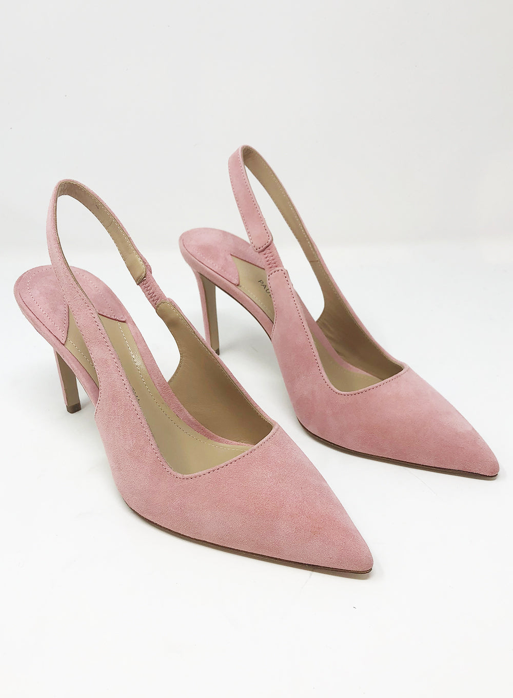 PAUL ANDREW | 'Coquette' Suede Slingback Pumps in Rose
