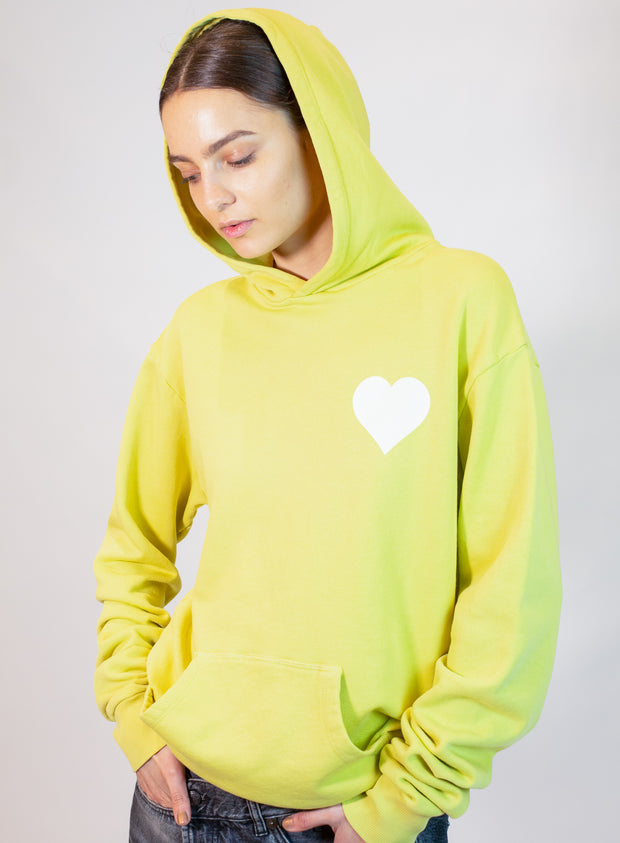 SPRWMN| Heart Logo Sweatshirt in Butter