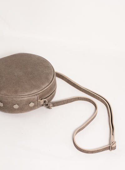 HAMMITT | Greg Small Circle Bag with Studs in Pewter