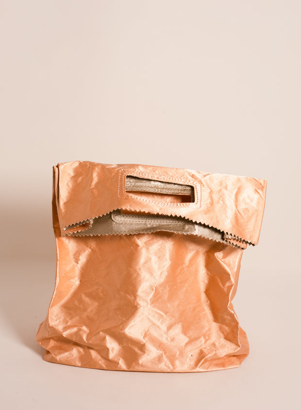 ZILLA | Satin Lunchbag with Handle in Peach