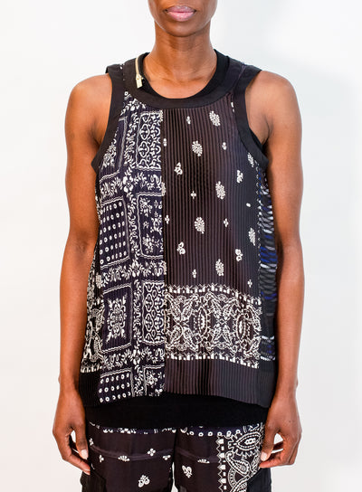 SACAI | Archive Print Mix Tank Top