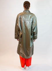 OOF | Shiny Long Jacket in Verde