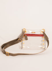 HAMMITT | Tony Clear Crossbody with Brushed Gold