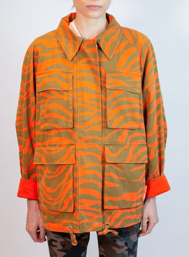 OOF | Zebra Jacket Pullover in Olive/Orange