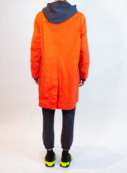 OOF | Nylon 3/4 Length Coat in Orange