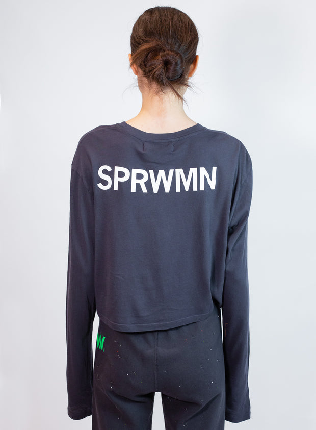 SPRWMN | Long Sleeve Tee in Black