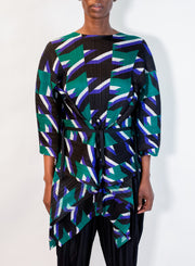 PLEATS PLEASE by ISSEY MIYAKE | Shooting Star Tunic in Green