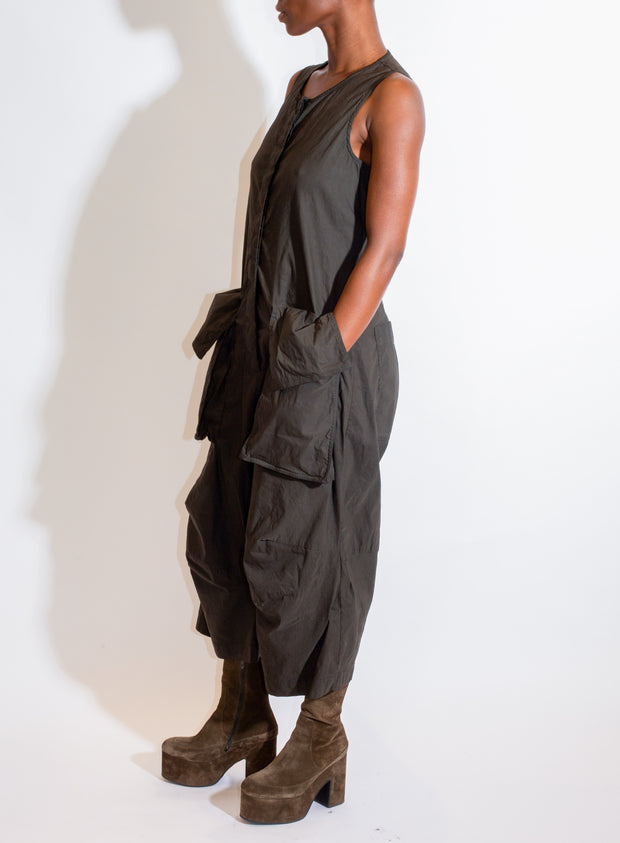 RUNDHOLZ | Drop Crotch Jumpsuit in Grey